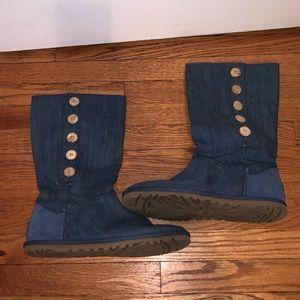 tall denim ugg boots